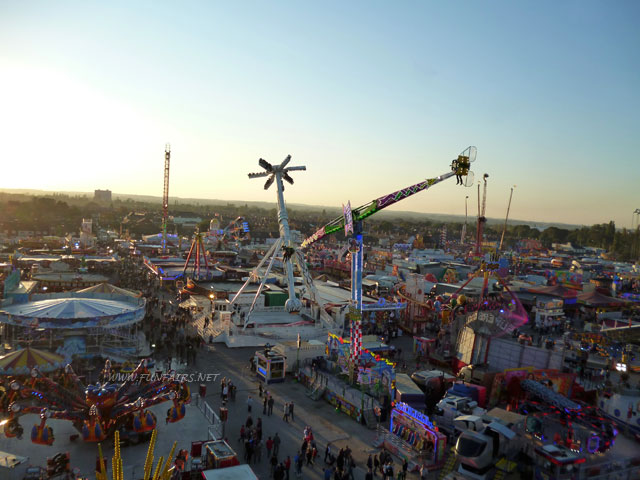 Image of Hull Fair as seen from an Observation Wheel